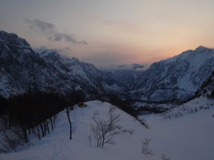 When the mountains were wild, splitboarding en Albania